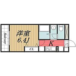 千葉県四街道市中央の賃貸アパートの間取り