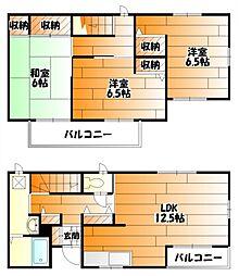 広島県広島市安佐南区長束3丁目の賃貸アパートの間取り