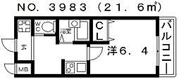シエテ矢田[309号室号室]の間取り