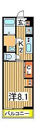 リブリ・スペースS[2階]の間取り