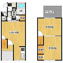 RTH田井城 2階2LDKの間取り