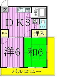 東京都足立区平野1丁目の賃貸マンションの間取り