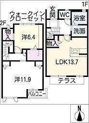 [タウンハウス] 愛知県名古屋市南区外山1丁目 の賃貸【/】の間取り