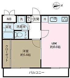 ステラレジデンス横浜[8階]の間取り