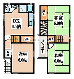 [一戸建] 大阪府東大阪市善根寺町3丁目 の賃貸【/】の間取り