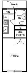 セントラルコーポS館[2階]の間取り