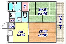 江川マンション[102号室]の間取り