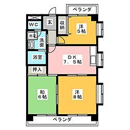 セレクト24[4階]の間取り