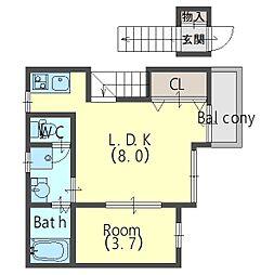 スペラーレ[2階]の間取り