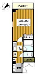 神奈川県横浜市西区楠町の賃貸マンションの間取り