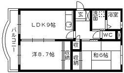 静岡県浜松市中区高丘東5丁目の賃貸マンションの間取り