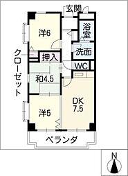 サンシャインミナミ2[6階]の間取り