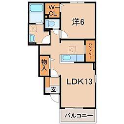 和歌山県和歌山市神前の賃貸アパートの間取り
