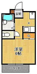 夙川ハイツAiOi[2階]の間取り