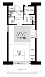 近鉄南大阪線 藤井寺駅 徒歩7分の賃貸マンション 1階1DKの間取り