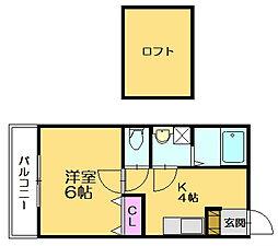 メゾン土井[2階]の間取り