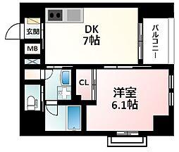 Osaka Metro御堂筋線 江坂駅 徒歩16分の賃貸マンション 10階1DKの間取り