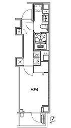 都営大江戸線 赤羽橋駅 徒歩3分の賃貸マンション 3階1Kの間取り