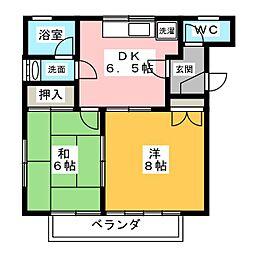 セントラル矢崎 B棟[1階]の間取り
