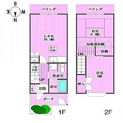 ガーデンハウストウワ[1階]の間取り