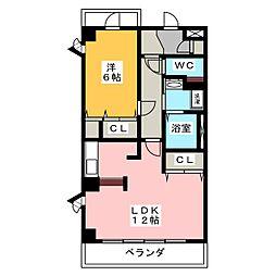 石川橋セブン[2階]の間取り