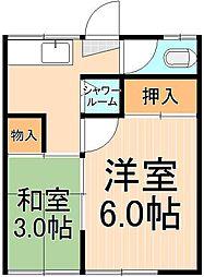 第一市村荘[10号室]の間取り