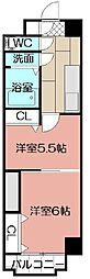 中津口センタービル[1105号室]の間取り