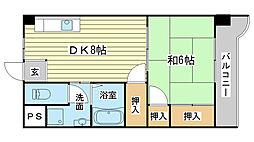 コーポラス神子岡[201号室]の間取り