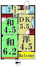 西新井レジデンス[302号室]の間取り