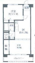 豊ハイツ[2階]の間取り