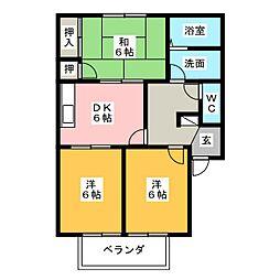 ハマハイツ第5[1階]の間取り