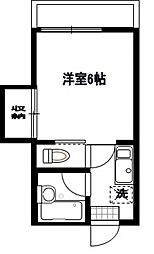 トーシンハイツ堀江[2階]の間取り