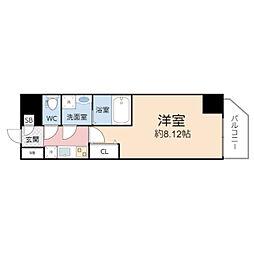 アート桜ノ宮 4階1Kの間取り