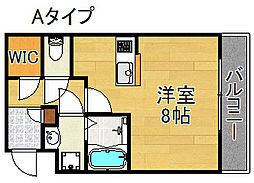 Ritz SQUARE Garden[4階]の間取り