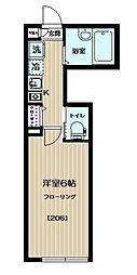 東京都世田谷区経堂2丁目の賃貸アパートの間取り