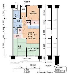 Osaka Metro南港ポートタウン線 ポートタウン西駅 徒歩3分の賃貸マンション 4階2LDKの間取り