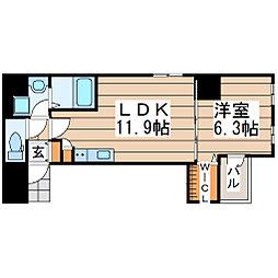 第三上村ビル 5階1LDKの間取り