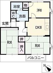 ファミーユすずか B棟[2階]の間取り