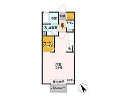 メルベーユC本庄市早稲田の杜[2階]の間取り