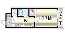 アンピエスK[4階]の間取り