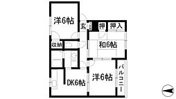 兵庫県宝塚市旭町3丁目の賃貸アパートの間取り