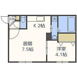 SUONO南円山[1階]の間取り