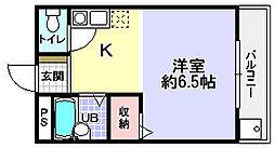 シャンテー長尾家具町[5階]の間取り