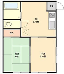栄町ハイツ[2階]の間取り