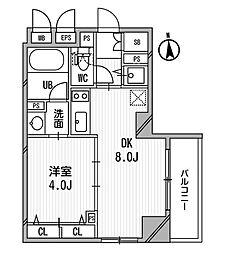 クリオ三田ラ・モード[5階]の間取り