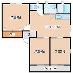 シティハイムアバンテ[2階]の間取り
