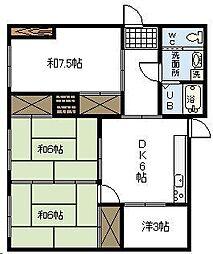 [一戸建] 宮崎県宮崎市東大宮3丁目 の賃貸【/】の間取り