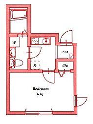 アッパービレッジ根岸[3階]の間取り