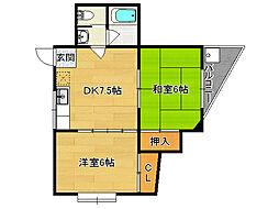 NISHIKIマンションII[305号室]の間取り