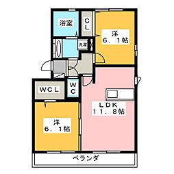 A−Room[3階]の間取り